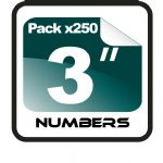 "3"" Race Numbers - 250 pack"